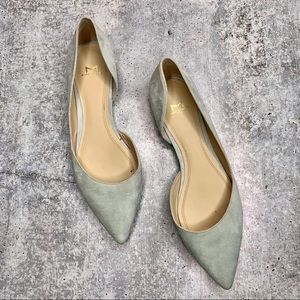 MARC FISHER | Suede Baby Blue Pointy Toe Flats